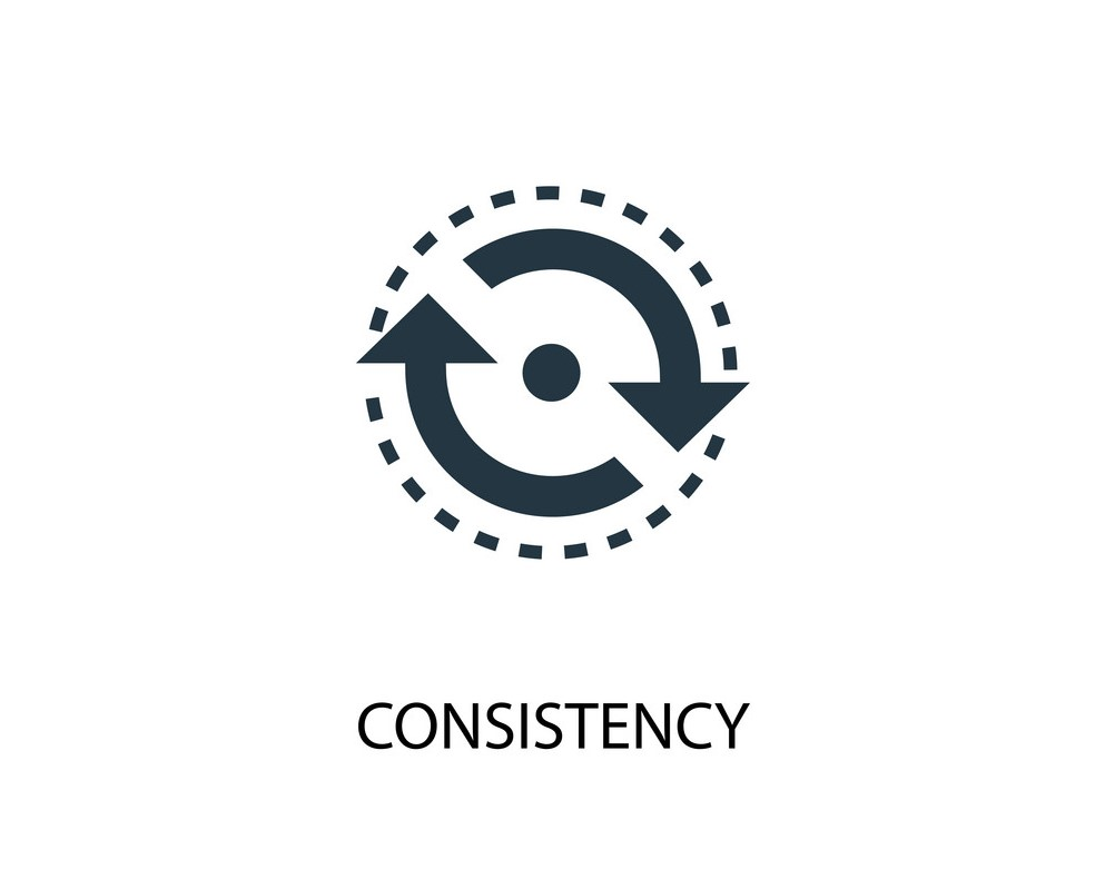 consistency icon. Simple element illustration. consistency concept symbol design. Can be used for web